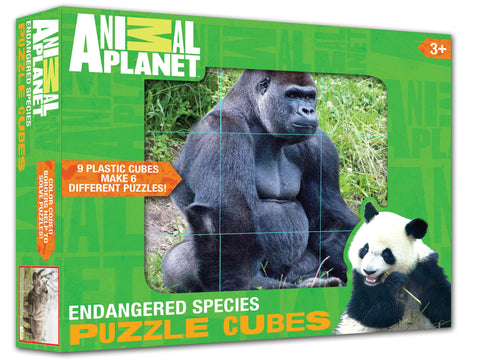 ANIMAL PLANET Puzzle Cubes - Endangered Species