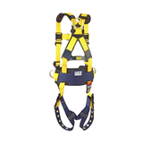 DBI Sala 110165X Delta Construction Fall Protection Harness - 3 D-Ring - BACK