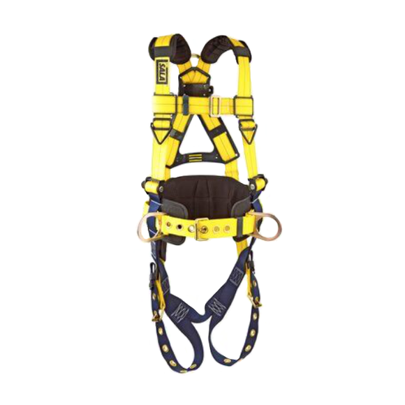 DBI Sala 110165X Delta Construction Fall Protection Harness - 3 D-Ring - FRONT