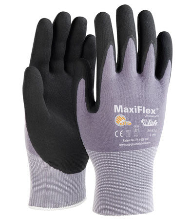 Maxiflex 34-874 Ultimate ATG Micro-Foam Nitrile Palm Coated Glove