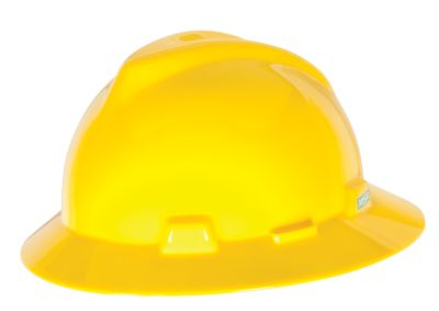 MSA V-Gard Full Brim Hard Hat