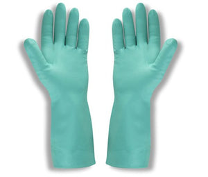 "Radnor Nitrile Flock Lined 15 Mil 13"" Rough Finish Glove"