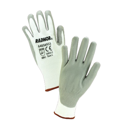 Radnor White HPPE Cut Level 2 Polyurethane Coated Glove