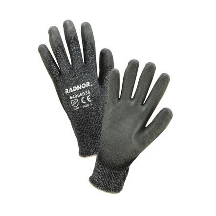 Radnor Dark Gray HPPE Cut Level 3 Polyurethane Coated Glove