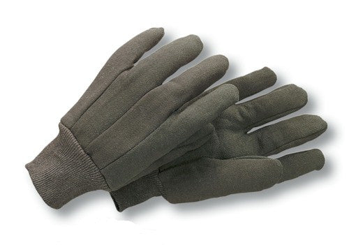 Radnor 100% Cotton Brown Jersey Knit Wrist Glove