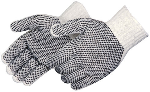Radnor Double Side Black PVC Dot String Knit Glove