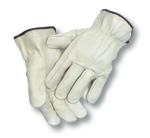 Radnor Cowhide Unlined Drivers Glove with Elastic Back