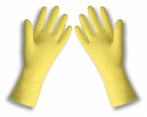 "Radnor Flock Lined 18 Mil 12"" Rough Finish Latex Glove"