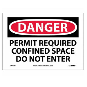Danger Permit Required Confined Space Do Not Enter