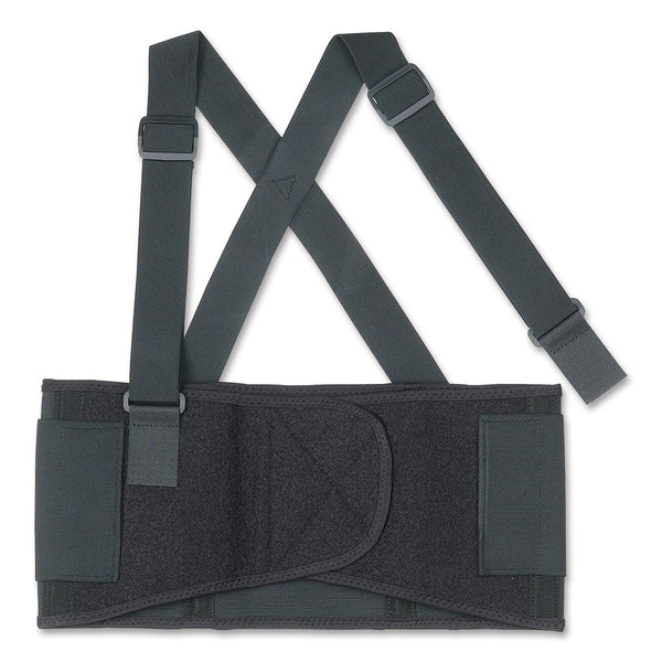 Ergodyne ProFlex 1650 Black Economy Elastic Back Support Belt With Detachable Suspenders