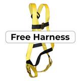 Free Fall Protection Harness Included with Kit