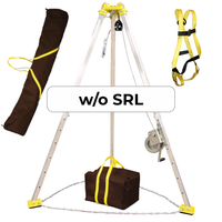 FrenchCreek Confined Space Winch and Manhole Tripod Rescue System - No SRL
