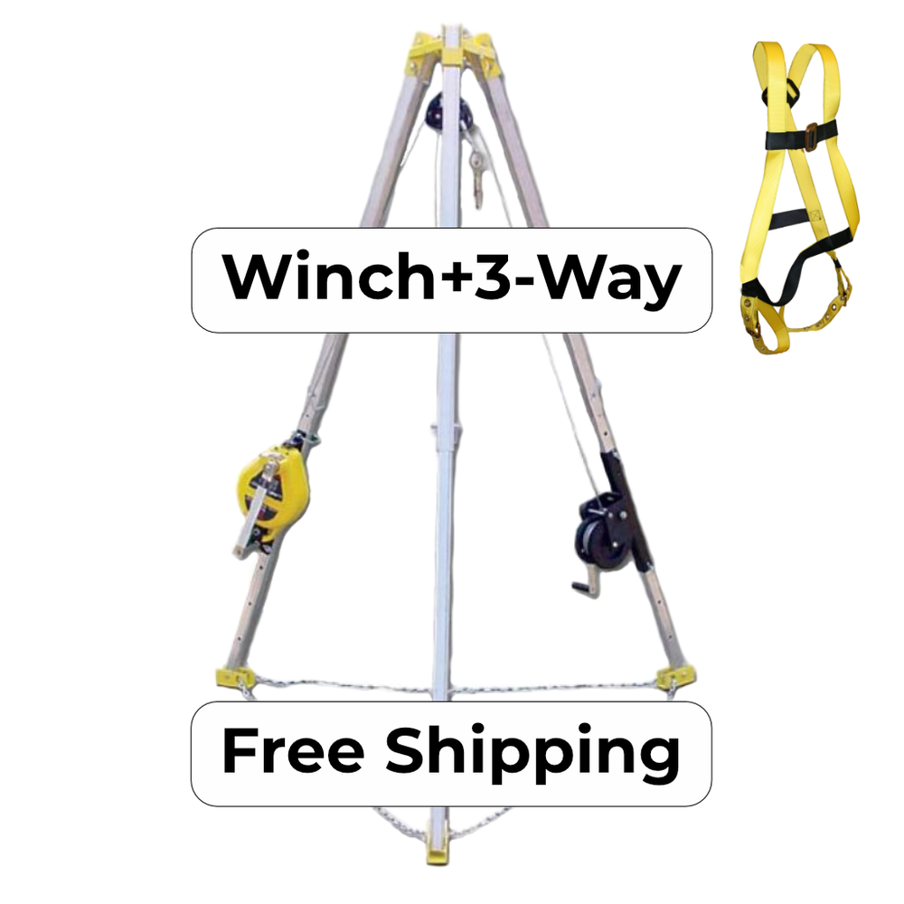 S50G-7 Combination Winch and 3-Way SRL/Winch Tripod System  Edit alt text