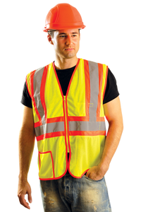 Occunomix LUX-SSCLC2Z ANSI Class II Two-Tone Mesh Safety Vest