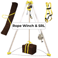 FrenchCreek Rope Confined Space Entry Rescue Tripod System - w/Rope SRL