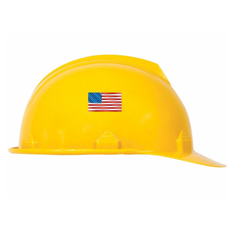 USA Flag Reflective Hard Hat Sticker - 1 x 1.75