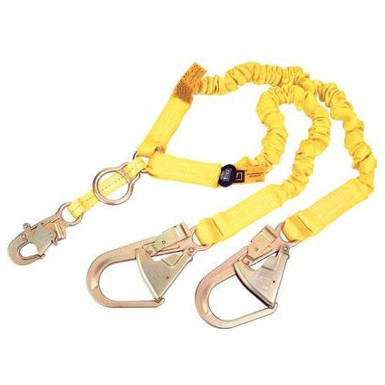 DBI Sala 1244456 ShockWave 2 Double-Leg Y-Lanyard with Rebar Hooks