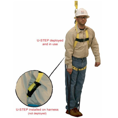 FrenchCreek U-Step Harness Suspension Trauma Strap - In Use