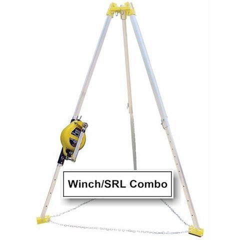 FrenchCreek Tripod Rescue System with Combo Winch and SRL Winch