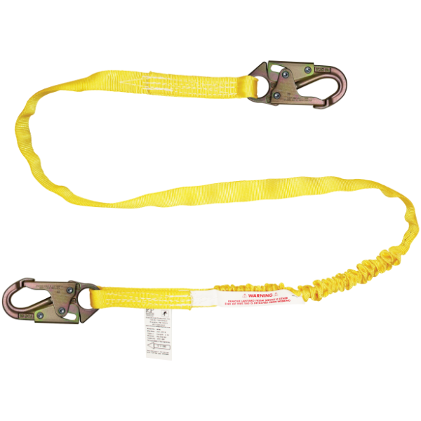 FrenchCreek 460A Shock Absorbing Lanyard Yellow