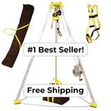 FrenchCreek Confined Space Entry Rescue Tripod System - w/SRL