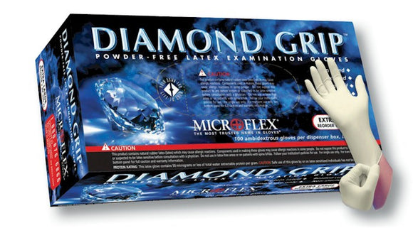 Microflex MF-300 Diamond Grip Powder-Free Latex Exam Glove