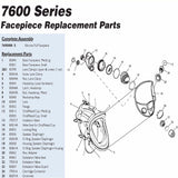 North 7600 Respirator Replacement Parts Diagram
