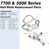 North 7700 Respirator Replacement Parts Diagram