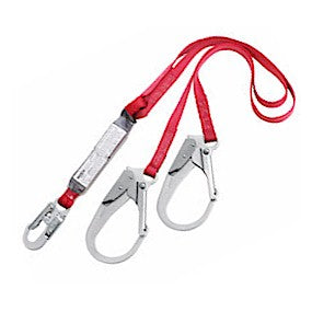 Protecta 1340180 Pro Pack Double-Leg Y-Lanyard with Rebar Hooks