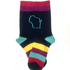 Striped Wisconsin Socks for Women