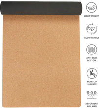 Load image into Gallery viewer, Cork Yoga Mat - 0.4cm
