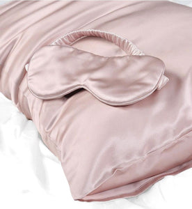 Mulberry Silk Pillowcase & Eye Mask - 100% Pure Mulberry Silk - Celluvac
