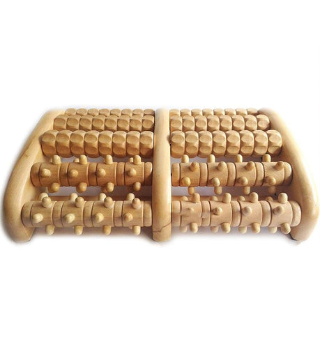 Wooden Reflexology Foot Massager Roller - Celluvac