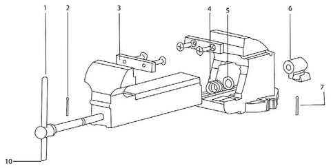 Bench Vise Parts Breakdown