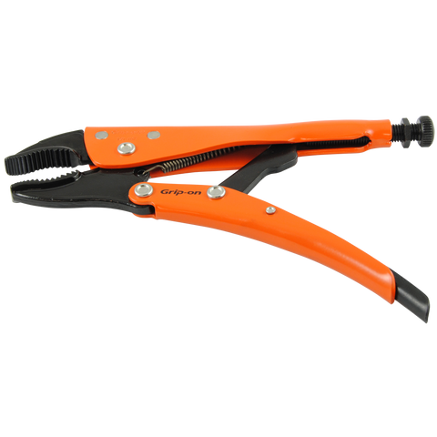 Grip-on Locking Pliers-Curved Jaws with Wire Cutter