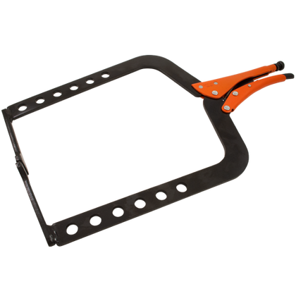 grip on locking long reach clamp distributed by gray tools