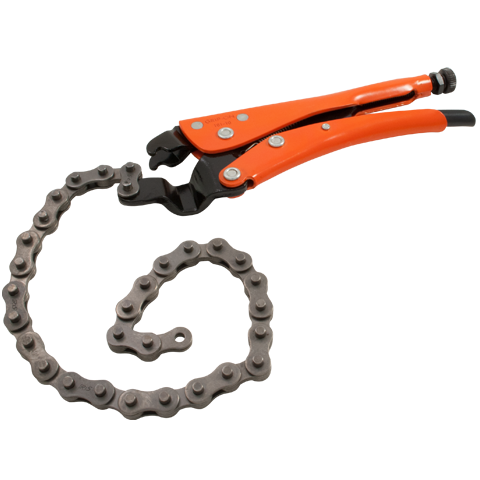 grip on locking chain clamps distributed by gray tools