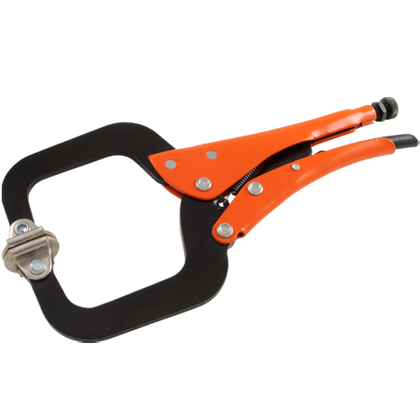 grip on locking c clamp with swivel pads distributed by gray tools