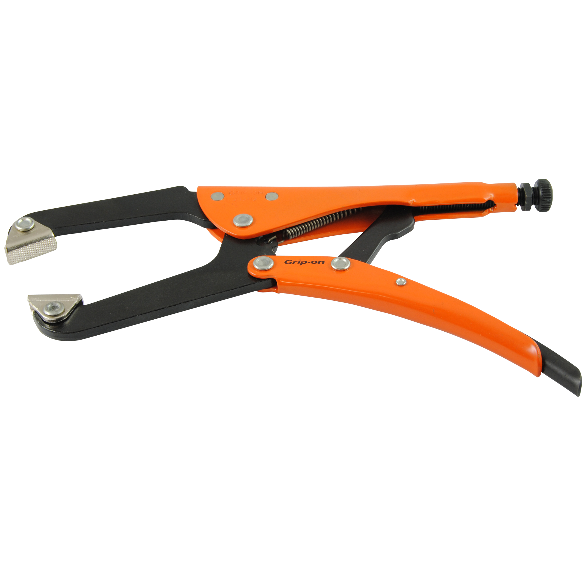 Grip-on Locking C-Clamp with Self Leveling Jaws