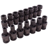 "1/2"" Dr. 15 Piece 6 Point Standard Metric Impact Universal Joint Socket Set"