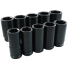 "3/4"" Dr. 10 Piece 6 Point Deep SAE Impact Socket Set"