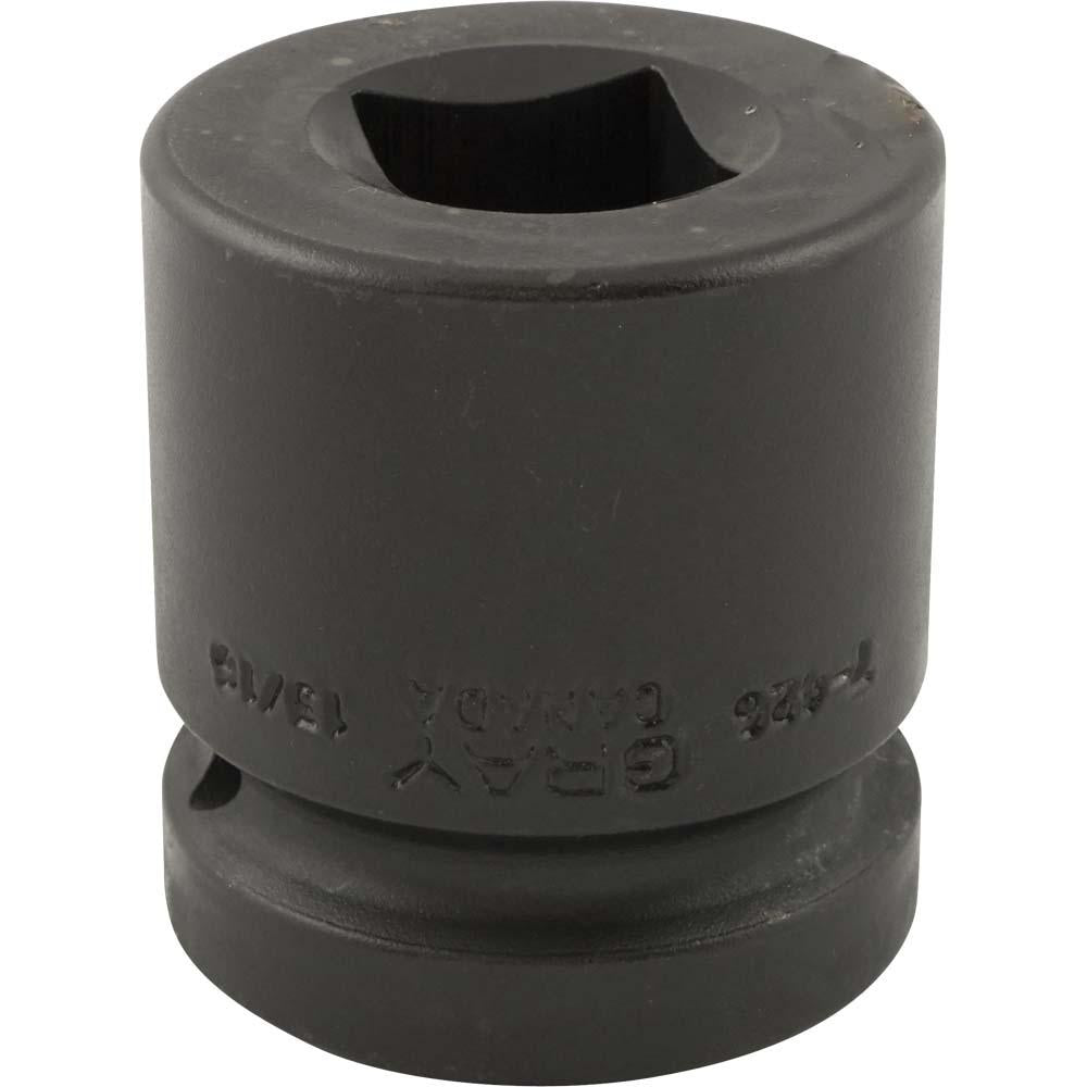 "1"" Drive 4 Point Standard Length Sockets - Impact Black Industrial Finish"