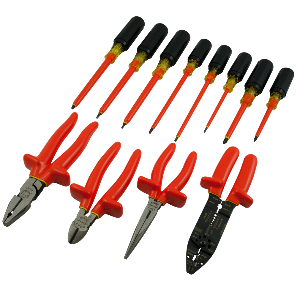 Insulated 12 Piece Screwdriver/Pliers Set