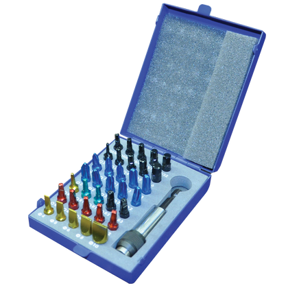 Screwdriver bit set with metal case