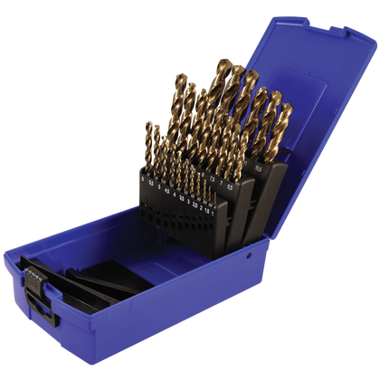 25 piece metric cobalt steel drill bit set