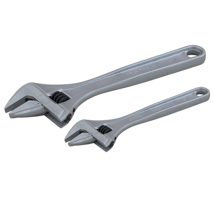 2 piece industrial adjustable wrench set