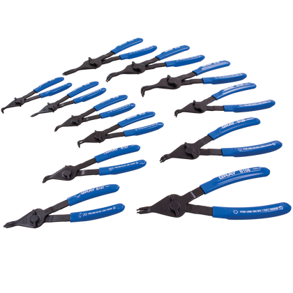 12 piece convertible snap ring plier set