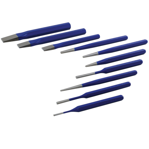 10 piece punch chisel set