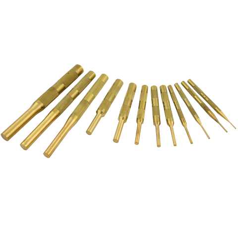 12 Piece Brass Pin Punch Set