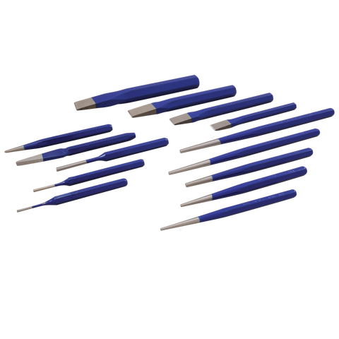 14 piece punch chisel set